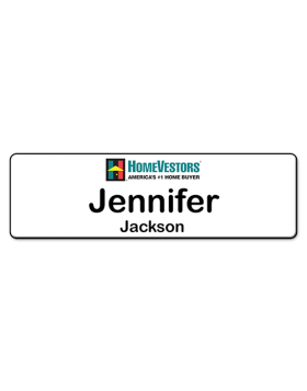 35 x 1  Corporate Series Plastic HomeVestors Name Badge