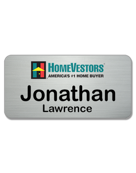 3 x 15 - Executive Series HomeVestor Name Badge metal