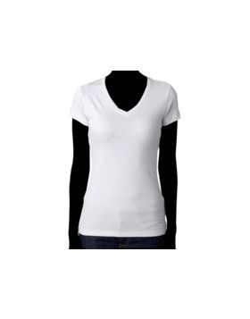 LADIES V-NECK - NEXT LEVEL 3400L -Front Print
