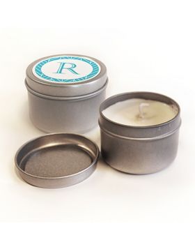 Personalized 2 oz Candle Tin with Candle