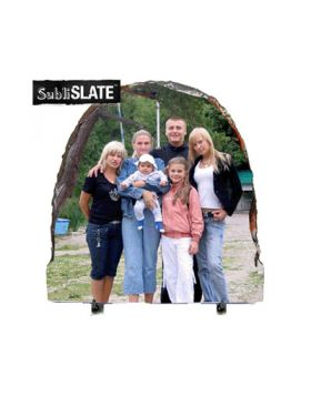 585x585 SubliSLATE 12 Oval Plaque with Feet