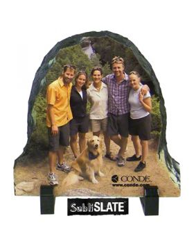78x78 SubliSLATE 12 Oval Plaque with Feet