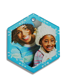 Hexagon Glass Ornament