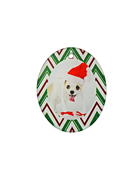 Oval Glass Ornament -Portrait